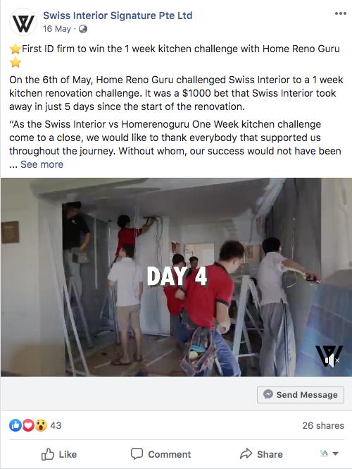 FB Post - 1 Week Kitchen Renovation