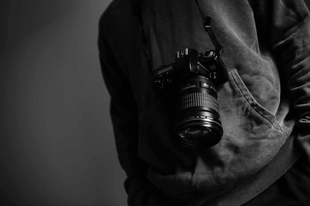 camera behind back