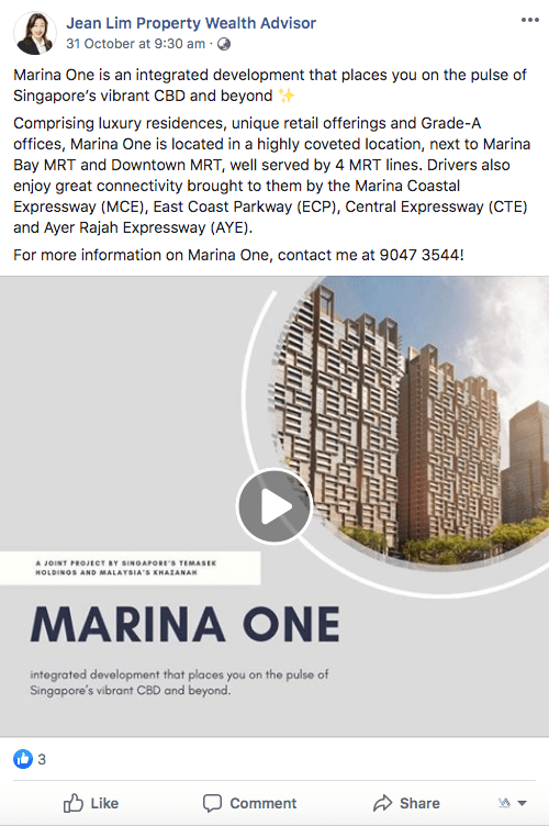 Marina One Facebook Post 2