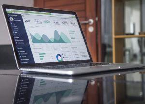 laptop showing digital analytics