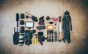 parts of a video camera